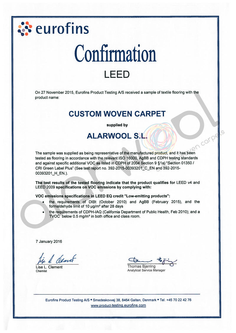 Support alarwool custom woven carpets rugs certificate leed xflitez Choice Image