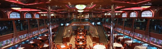 Carnival Conquest  FWD and AFT Dining rooms